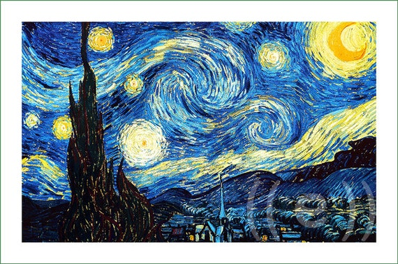 Fabric Panel Vincent Van Gogh 8 V A For Sewing