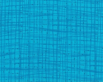 Turquoise Blue Lines- 100% Cotton Quilting Fabric