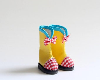 SK Couture Cute Yellow boots for Blythe Pullip Dal Momoko OB21 Azone Poppy B027