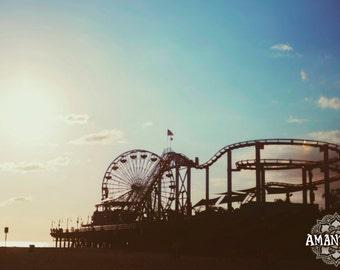 Santa Monica Ferris Wheel photograph -digital download