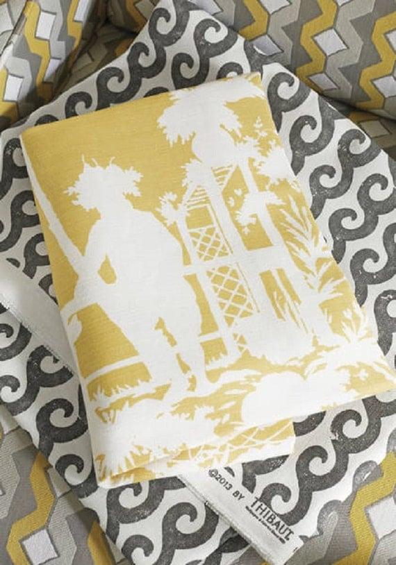 Tela de la tapicer a de la yarda tela chinoiserie tela - Telas para tapiceria ...