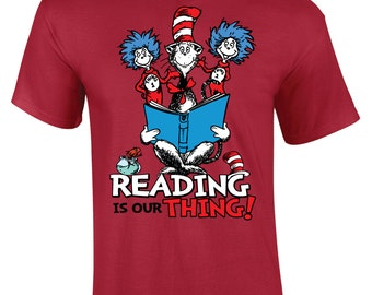 Reading Is Our Thing! Standard Crewneck Graphic Tshirt