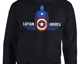 Captain America Pullover Hooded Sweater