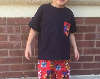 Boys Shorts with Cargo Pockets Paw Patrol Fabric