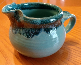 Handmade ceramic pitcher, gravy pitcher, warm syrup pitcher