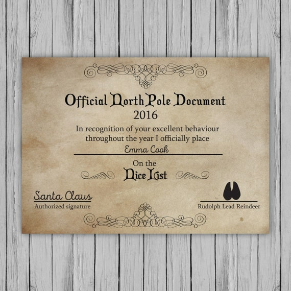 20 awesome letter from santa and nice list certificate pictures personalised santa letter santa nice list certificate santa spiritdancerdesigns Image collections