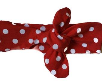 Red and White Polkadot * Knot Headband