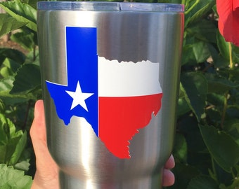 Texas state flag decal for yeti, car, tablet, mug, etc