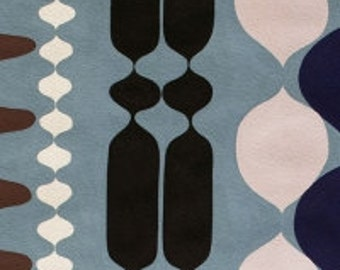 Groovy Bead Fabric - The Ghastlies by Alexander Henry - A Ghastlie Bead in Freezing Blue - Fabric By the Half Yard