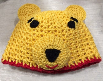Baby/Toddler/Child's Crochet Winnie the Pooh Hat - for Boys and Girls