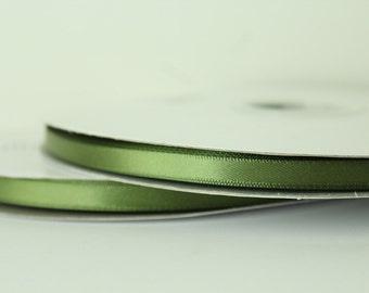 1/4 inch Moss Green Satin Ribbon / 100 yards