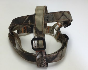 Adjustable Camouflage Step-In Dog Harness