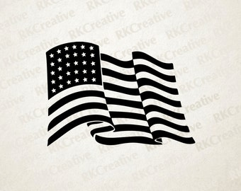 Fourth of July svg file - american flag svg file - july 4 - vector file - cut file - silhouette - vinyl cut file - independence day - flag