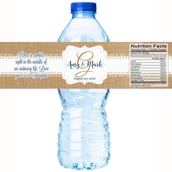 30 wedding water bottle labels wedding bottled water labels water