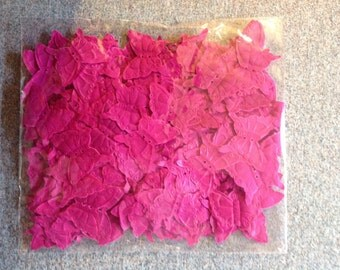 1,000 Rasberry Butterfly Petals - Free Shipping USA