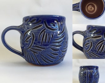 Ceramic Mug / Handmade Pottery /  Blue