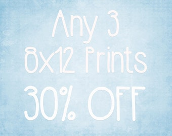 8x12 Prints - Choose any 3 ColorPopPhotoShop Fine Art Photographs