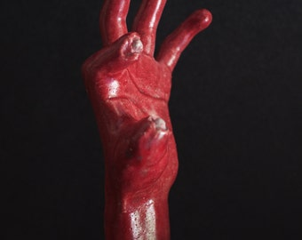 Left 4 Dead 3 Concept Art /// Zombie Hand Ceramic Sculpture
