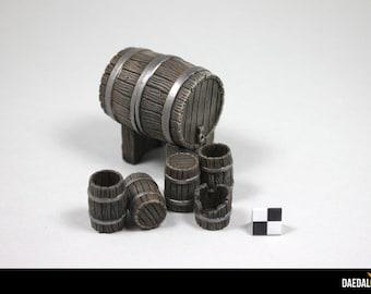Accessories for miniature decor: set of barrels