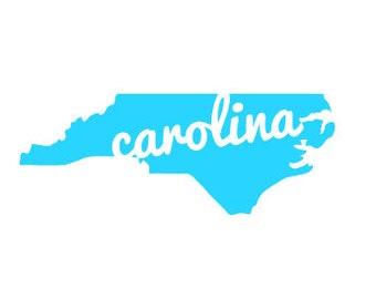 North Carolina Cursive Decal