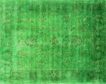 Overdyed Green Rug