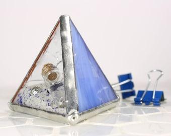 Glass Paper Weight, Beach House Decor, Ocean Stain Glass Ornament, Coastal Decor, Beach Decoration, Nautical Decor, Beach Ornament,Glass Toy