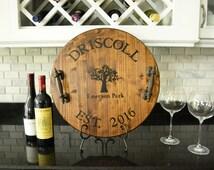 Personalized Wine Barrel Tray, Custom Serving Tray, Personalized Tray, Wedding Gift, Housewarming Gift
