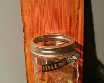 Rustic Mason Jar Vase Candle Holder Toothbrush Holder