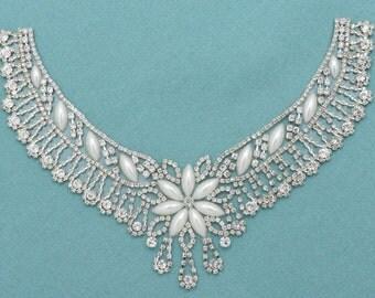DIY Crystal Rhinestone Necklace Silver Crystal Pearl Necklace Wedding Jewelry DIY Supplies Necklace