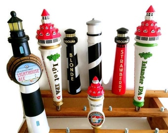 Lighthouse Beer Tap Handles-Bar Taps-Kegerator Beer Taps-Beer Pulls-Lighthouse Tap Handle Craft Beer-Homebrew Beer Pull Lighthouse Art