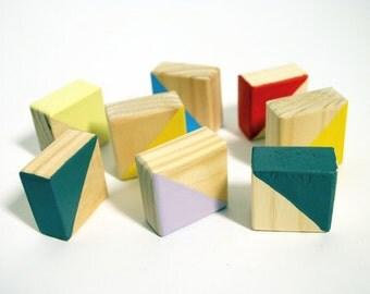 Children's wooden Montessori blocks - Squares