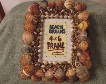 4x6 Sea Shell Picture Frame