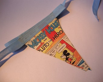 Disney's Mickey Mouse and Pluto Paper Bunting