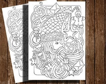CHRISTMAS COLORING PAGES- 1 digital stamp