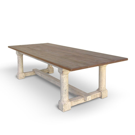 Table Dining Table Reclaimed Wood Trestle Table Farmhouse