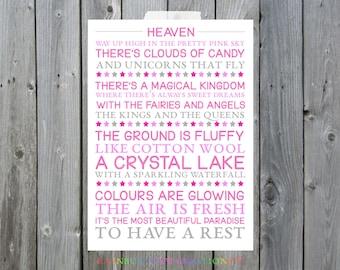 Heaven Poem Original A4/A3 Print
