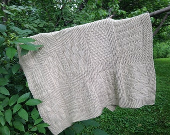 Organic Cotton Baby Blanket - Fair Trade - Hand-knit