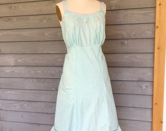 Hand-dyed Vintage Slip Dress L