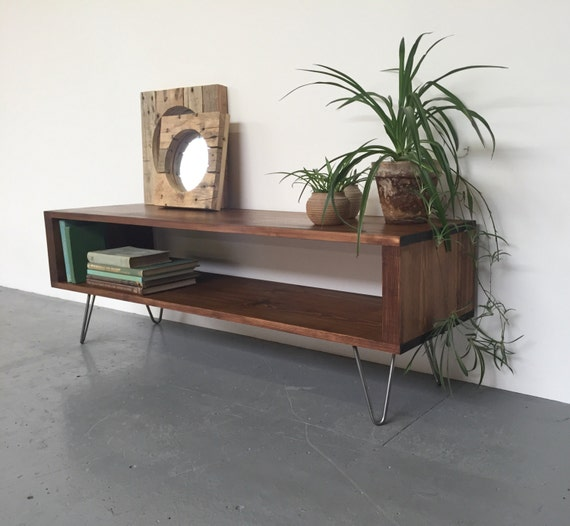 Houston Mid Century Coffee Table Tv Stand Media Unit On 20cm
