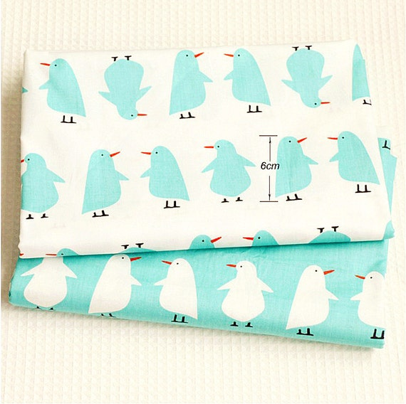 Animals cotton fabric colorful penguin fabric children baby for Childrens animal fabric