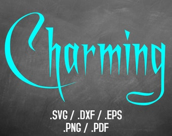 Charming Font Design Files For Use With Your Silhouette Studio Software, DXF, SVG Font, Eps Files, Pdf Fonts, Charming Silhouette