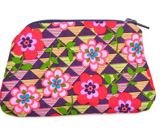 Coin purse/change purse/ zipped coin purse/patterned coin purse