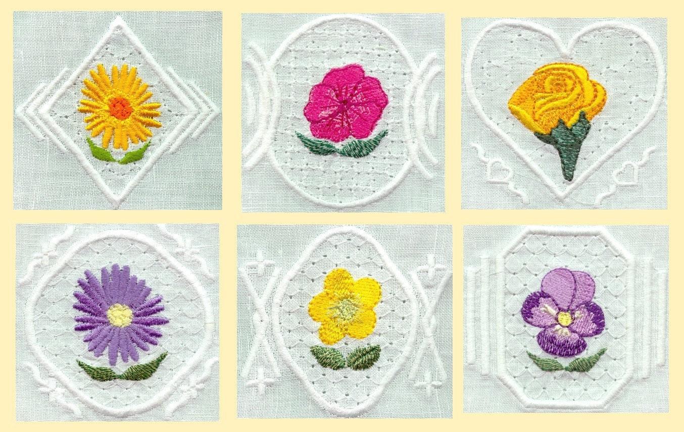 Small embroidery motifs makaroka