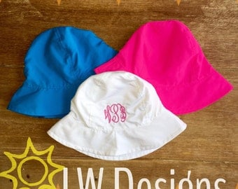 Monogrammed sunhat one size