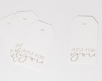 Gift Tags - Gold Foil Tags, Just For You