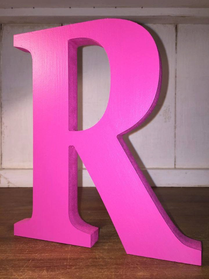 Painted wooden letters 20cm large letters large by for Standing wood letters to paint