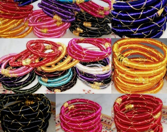 60 silk thread wrap bracelet bangle india