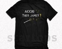 Accio Theo James shirt Divergent Shirt Funny Spells Harry Potter shirt t-shirt black km24 shirt