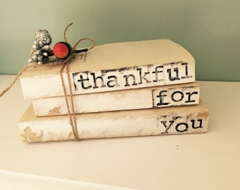 Thanksgiving Stamped Books