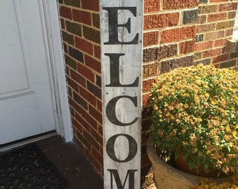 Welcome sign, distressed reclaimed wood sign, welcome, home decor, rustic decor, unique gifts, gift ideas, housewarming gift, home sign
